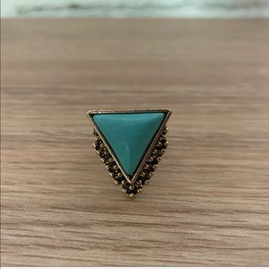 Turquoise and Gold Target ring